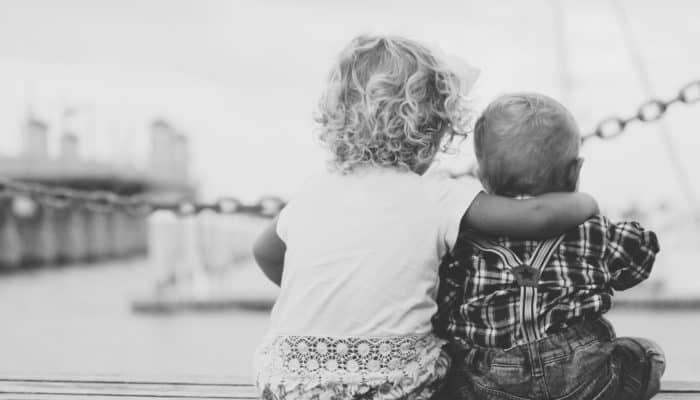 2 Kids in Embrace