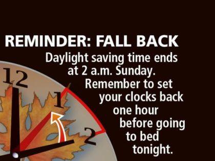 Fall Back Daylight Savigns