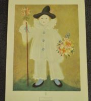 PIERROT WITH FLOWERS PRINT
