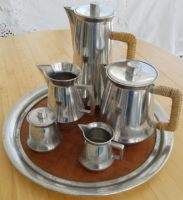 BANGKA TIN (lead-free pewter) COFFEE AND TEA SERVICE