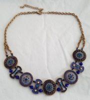 BLUE/GOLD NECKLACE